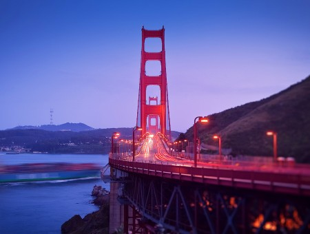 Golden Gate Bridge View At Night