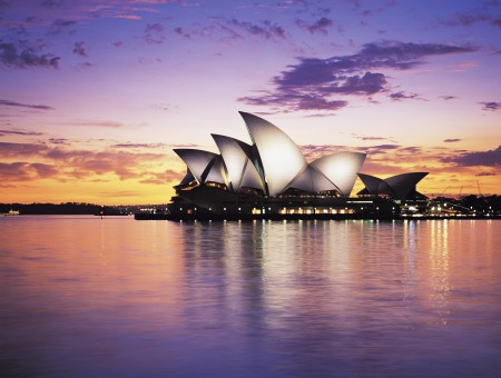 Sydney Opera House Near Body Of Water During Sunset