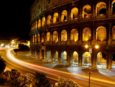 Coliseum During Night Time