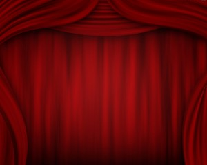 Desktop Wallpaper: Red Stage Curtain Cl...