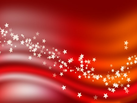 White Stars On Red Background Poster