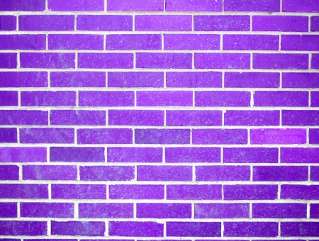 Purple Painted Concrete Brick Wall