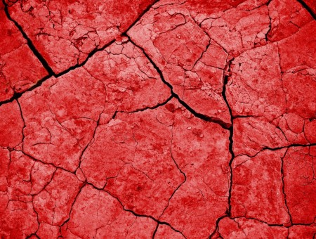 Red Cracked Surface