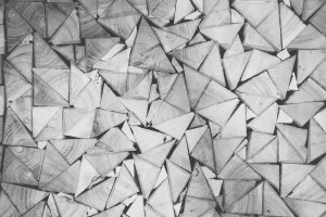 Desktop Wallpaper: Grey Triangle Wood B...