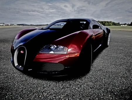 Red And Black Sports Car