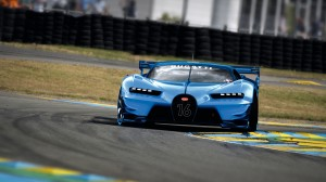 Desktop Wallpaper: Blue Bugatti Vision ...