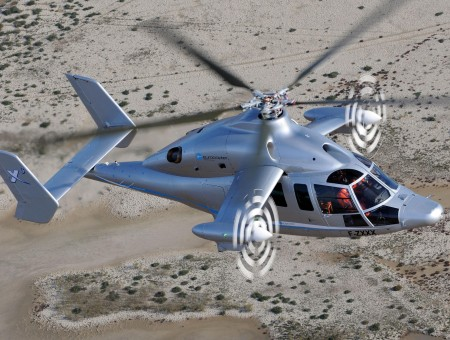 Gray Helicopter 3d Graphic Image