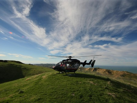 Helicopter On Hill