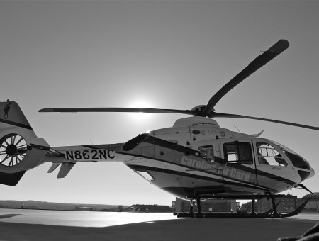 N3c2nc Helicopter In Grayscale Photo
