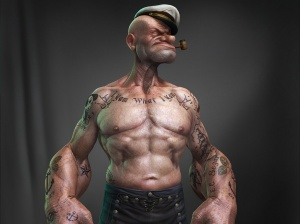 Desktop Wallpaper: Popeye 3d Illustrati...