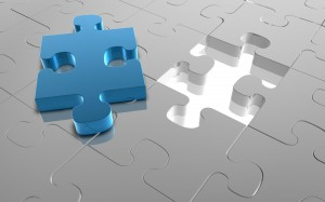 Desktop Wallpaper: Blue Jigsaw Puzzle