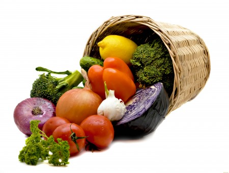 Assorted Vegetables On Brown Woven Basket