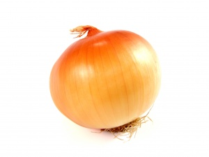 Desktop Wallpaper: Brown Onion With Whi...