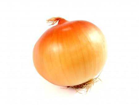 Brown Onion With White Background