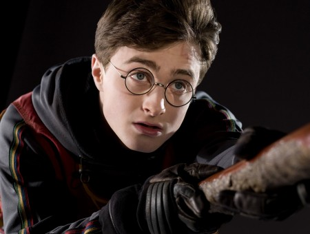 Harry Potter Flying On Broom