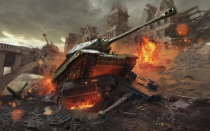 Desktop Wallpaper: Metal Tank Game In F...