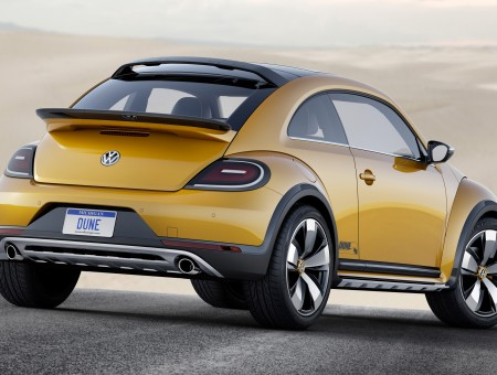 Yellow New Volkswagen Beetle