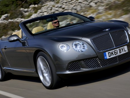 Gray Bentley Convertible During Daytime