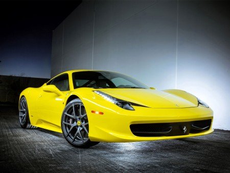 Yellow Luxury Car