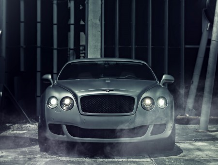 Silver Bentley Continental GT