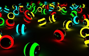 Desktop Wallpaper: Lit Colored Balls