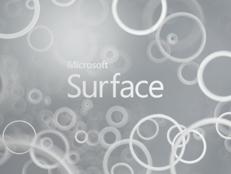 Microsoft Surface With Grey Background And White Circles