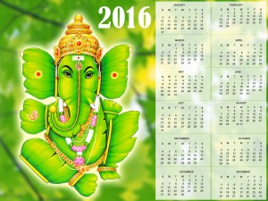 Desktop Wallpaper: Green Ganesha 2016 C...