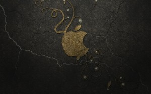 Desktop Wallpaper: Silver Apple Logo