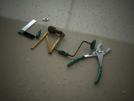 Green And Stainless Steel Linur Pattern Working Tools