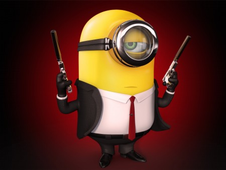 Minion Holding Guns Artwork