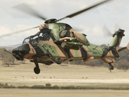 Brown Green And Black Camouflage Army Helicopter
