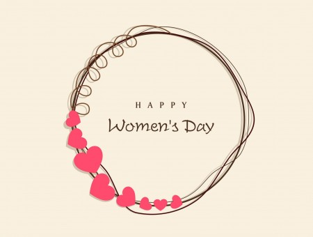 Happy Woman's Day Wreath