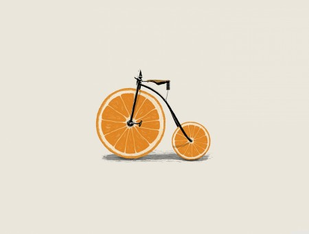 Citrus Wheeled Bicycle