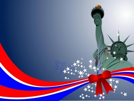 Photo Of Statue Of Liberty Vector Art
