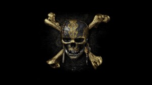 Desktop Wallpaper: Gold and black skull...