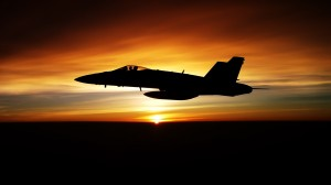 Desktop Wallpaper: Jet fighter plane si...