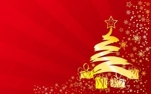 Desktop Wallpaper: Yellow christmas tre...