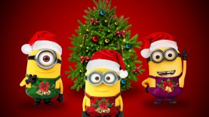 Desktop Wallpaper: Minions christmas ca...