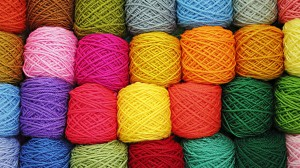 Desktop Wallpaper: Assorted wool yarns