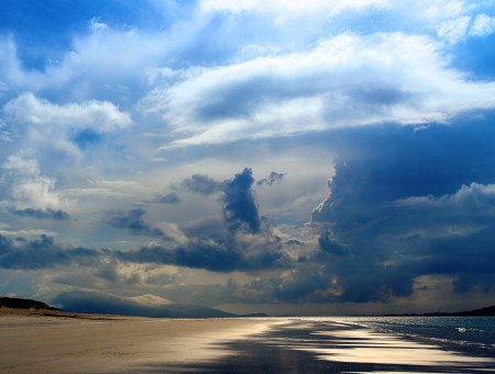 Lovely clouds over the beach