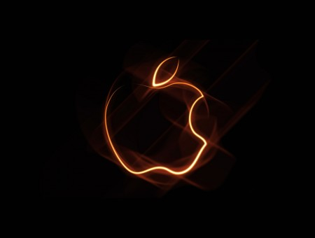Apple's Logo in orange lines