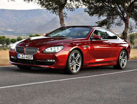 Red BMW M6 Grand cupe