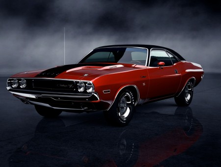 Red Dodge Challenger 1969