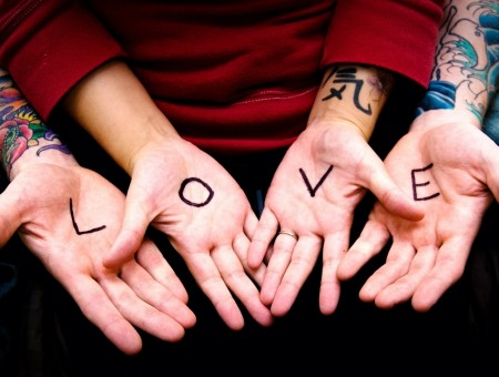 Tattoo in hand ''Love''
