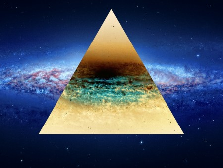 Triangle space wallpaper