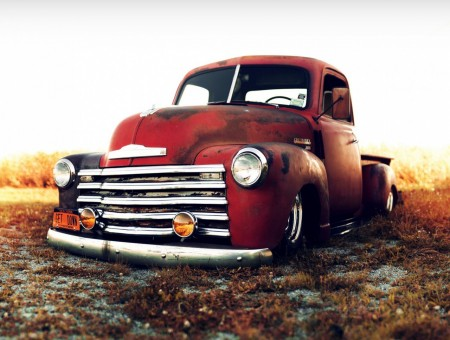 red old chevrolet