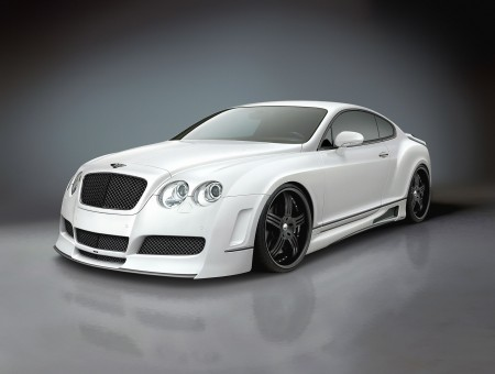 White bentley on gray background