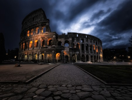 Coliseum in night