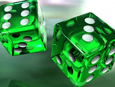 Green game cubes