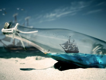 Ship in bottle